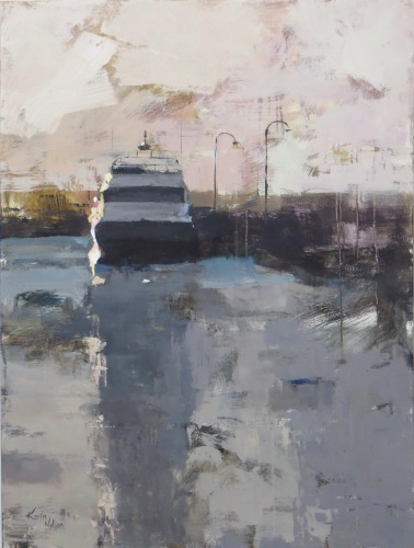 """The Boat - 48"""" x 30"""" acrylic on canvas. Just sold."""