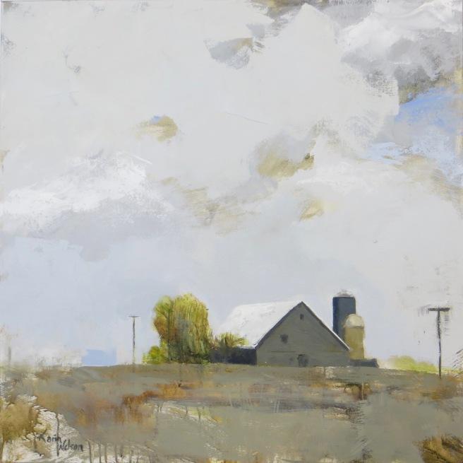 "Corn Fields on Byron Road - 36""x36"" acrylic on canvas. Available."