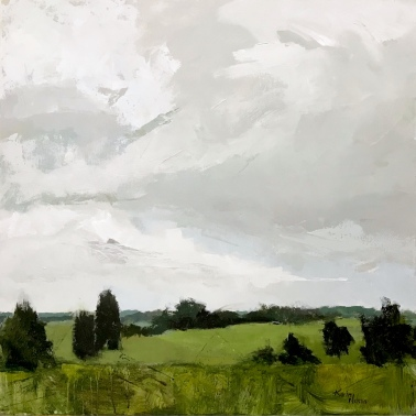 "Sky and Meadow, 36""x36"" acrylic on canvas. Available."