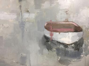 "Float - 30"" x 40"" acrylic on canvas. Available."