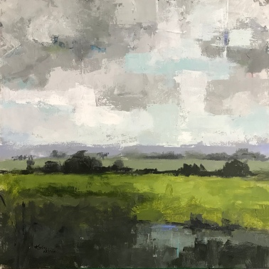 "Field and Sky 2, 36"" x 36"" acrylic on canvas. Available."
