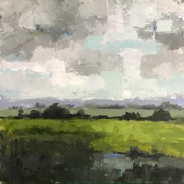 "Field and Sky 2, 36"" x 36"" acrylic on canvas. Available."
