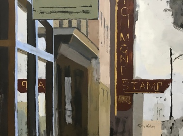 """Richmond Stamp, Revised - 30"""" x 40"""" acrylic on canvas. Available."""