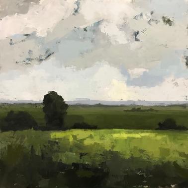"Field and Sky 3, 36"" x 36"" acrylic on canvas. Available."