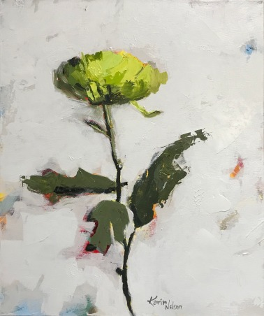 """Green Mum, 24"""" x 20"""" acrylic on canvas. Just sold."""