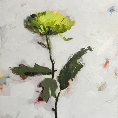"Green Mum, 24"" x 20"" acrylic on canvas. Just sold."