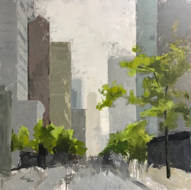 "The Mile 4, 36"" x 36"" acrylic on canvas. Available."