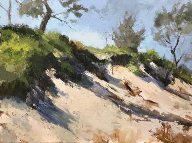 """Dune Shadows, 36"""" x 48"""" acrylic on canvas. Available."""