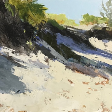 "Dunes in Late Sun, 24"" x 48"" acrylic on canvas. Available. at LaFontsee Galleries."