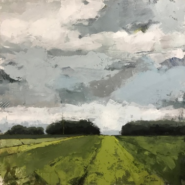 """Green Path, 36"""" x 36"""" acrylic on canvas. Just sold."""